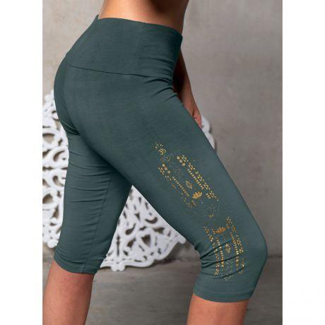 Leggings capri green/smaragd