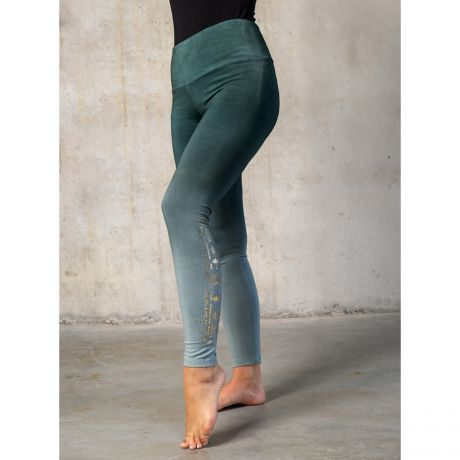 Yoga-Leggings lang green/smaragd