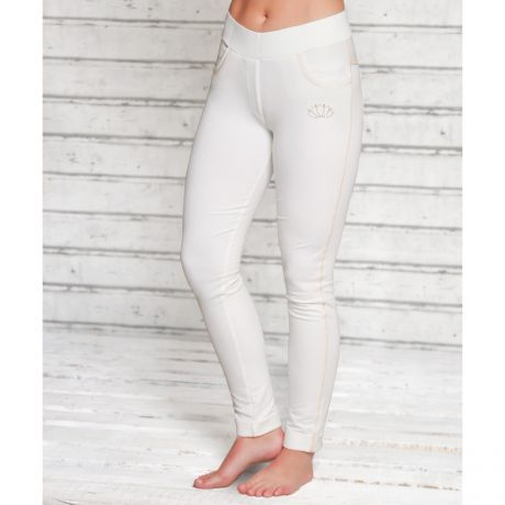 Legging, Hose, Lotus, weiß, white