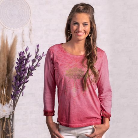 Shirt 3/4-Arm Peaceful Lotus pink-orchidee