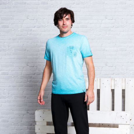 T-Shirt, türkis, blau, smaragd, Herren Mode, Bio-Kleidung, Bio-Baumwolle, turquoise, blue, emerald, men's fashion, organic clothing, organic cotton,