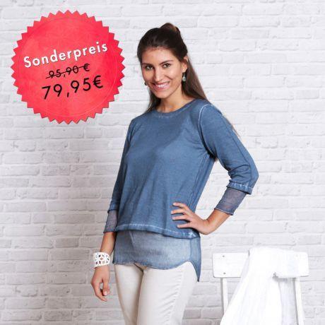 Pulli, blau, Bio-Baumwolle, Seide, Sweater, blue, organic cotton, silk,