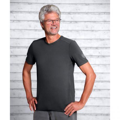 T-Shirt Bambus turmalingrau