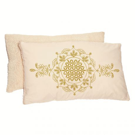 Allergiker-Kissen Vintage-Design natur/gold