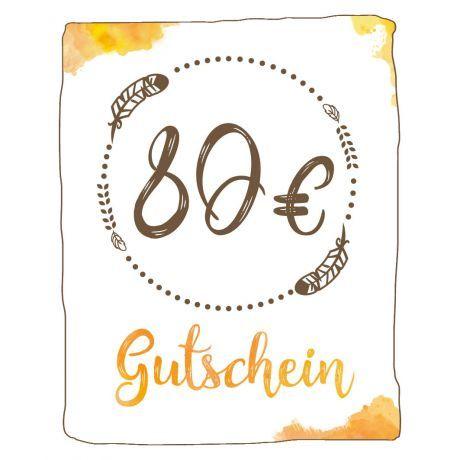 Geschenk Gutschein 80 EUR