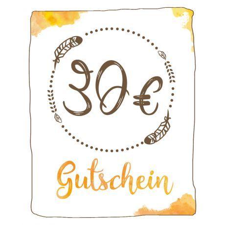 Geschenk Gutschein 30 EUR