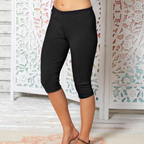 Legging, Yoga, schwarz, Bio-Baumwolle, black, organic cotton,