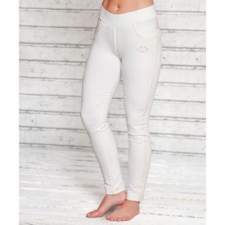 Legging, Hose, Lotus, weiß, white