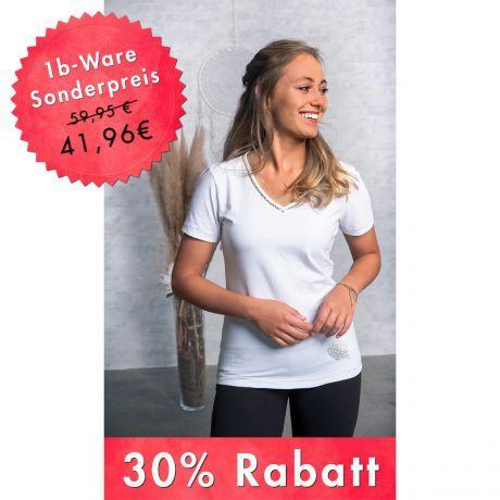 Shirt Silbergarn Kurzarm V-Neck - 1b Ware