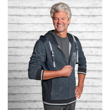 Sweatjacke, Blau, Bio-Baumwolle, Bio-Kleidung, Herren, Reißverschluss, Sweat jacket, blue, organic cotton, organic clothing, men, zipper,