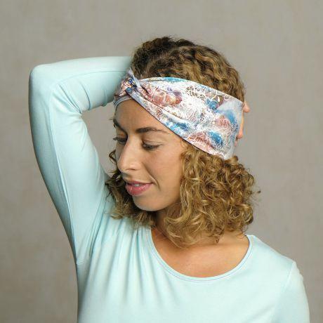 Stirnband/Haarband Bambus seabreeze
