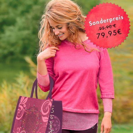 Pulli, pink, Bio-Baumwolle, Seide, Tasche, Sweater, pink, organic cotton, silk, bag,