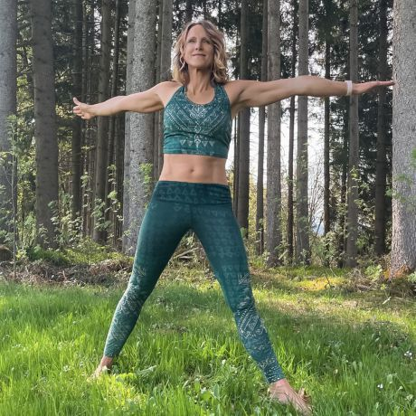 Yoga-Leggings Buddhi smaragd
