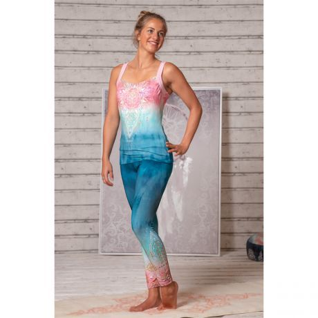 Yoga-Leggings indigo/peach