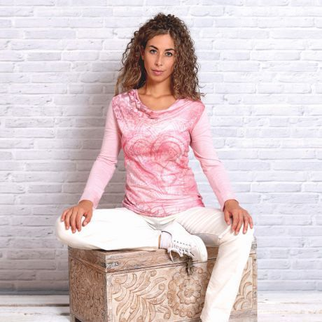 Langarm-Shirt 'Buddha-Herz'