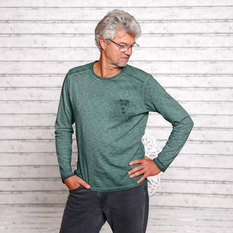 Langarmshirt 'Nature Spirit' smaragd