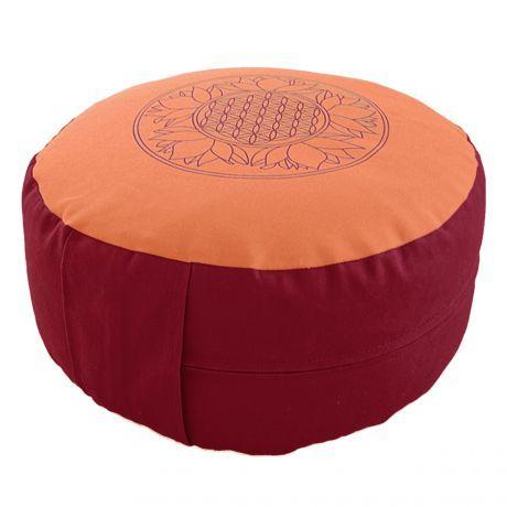 Meditationskissen orange/rot