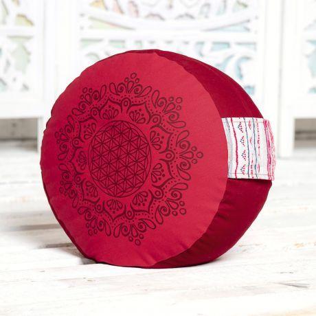 Meditationskissen hibiskus / rot