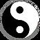 Ying und Yang Symbol, Feng Shui, schwarz weiß, rund