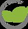 Icon für Bio-Textilien, grünes Blatt im Kreis