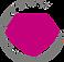 Icon für Rosenquarz, pinker Edelstein im Kreis
